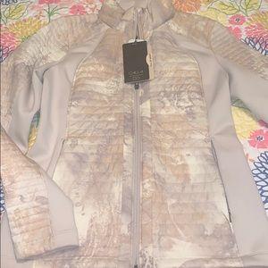 NWT SMALL CALIA Full Zip Puffer Hybrid Jacket